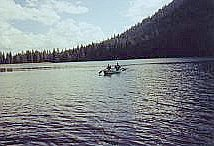 Canoeing at Juanita Lake, California