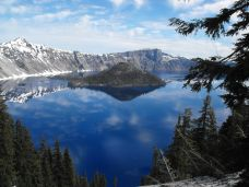Reflections of Crater Lake and Wizard Island