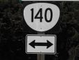 Highway 140 Sign