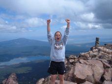 My daughter Laura reaching the summit