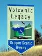 Volcanic Legacy Byway Sign