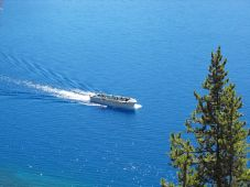 The boat tour at Crater Lake