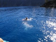 Swimming in Crater Lake at Wizard Island