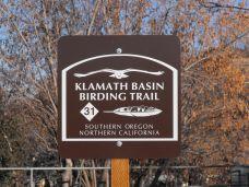 Klamath Basin Trail Sign in Klamath Falls, Oregon