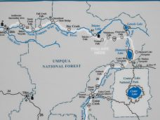 Umpqua Waterfalls Map