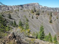 The caldera on top of Wizard Island