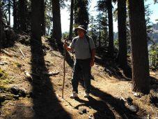 Dan hiking on Wizard Island