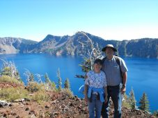 Dan and Judy at the top of Wizard Island